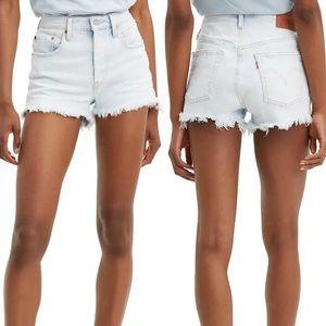 Levi's 501 cut off denim shorts high rise 29 light